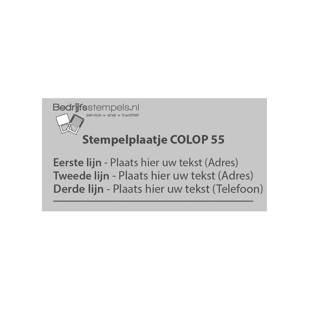 Stempelplaatje Colop Printer S 260 Datum