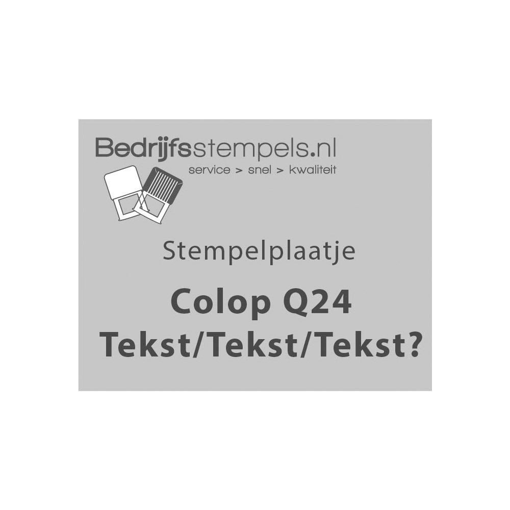 Tekstplaatje Colop Printer Q43 Datum