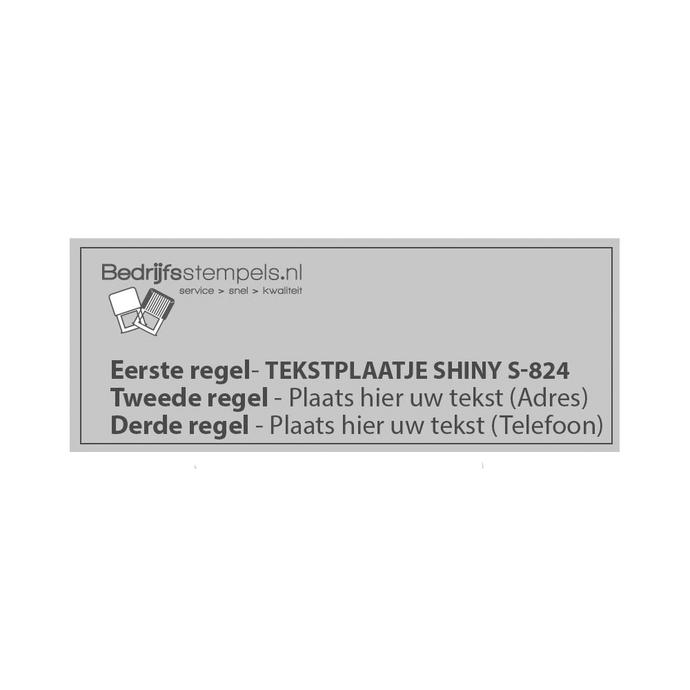 Stempelplaatje Shiny Essential 9510/PL