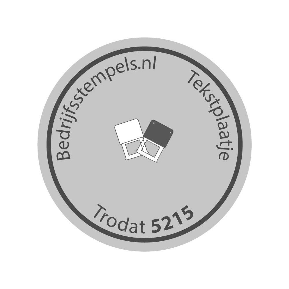 Trodat Professional 5415/D tekstplaatje