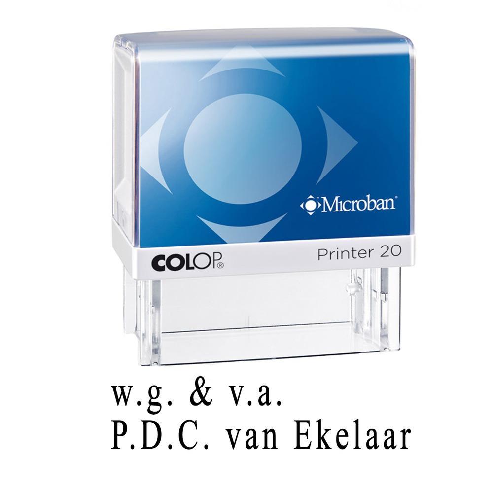 Houten handstempel 100 x 20 mm voor deurwaarders