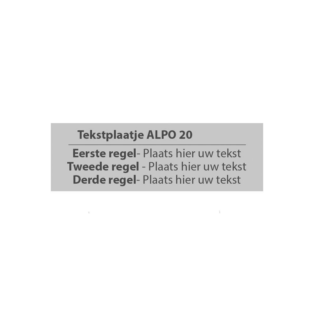 Alpo 20 - Posta 20 stempelplaatje