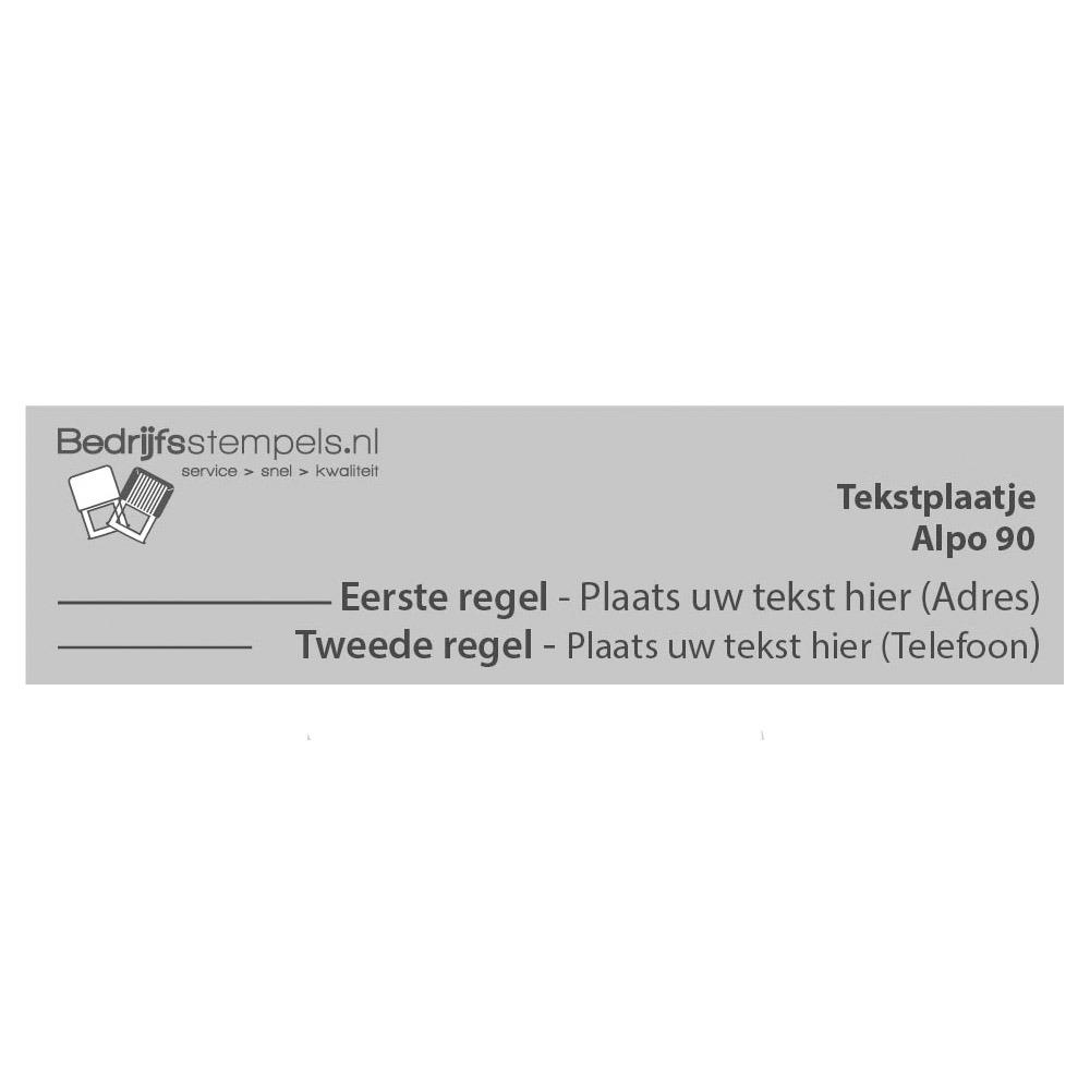 Alpo 90 - Posta 90 tekstplaatje
