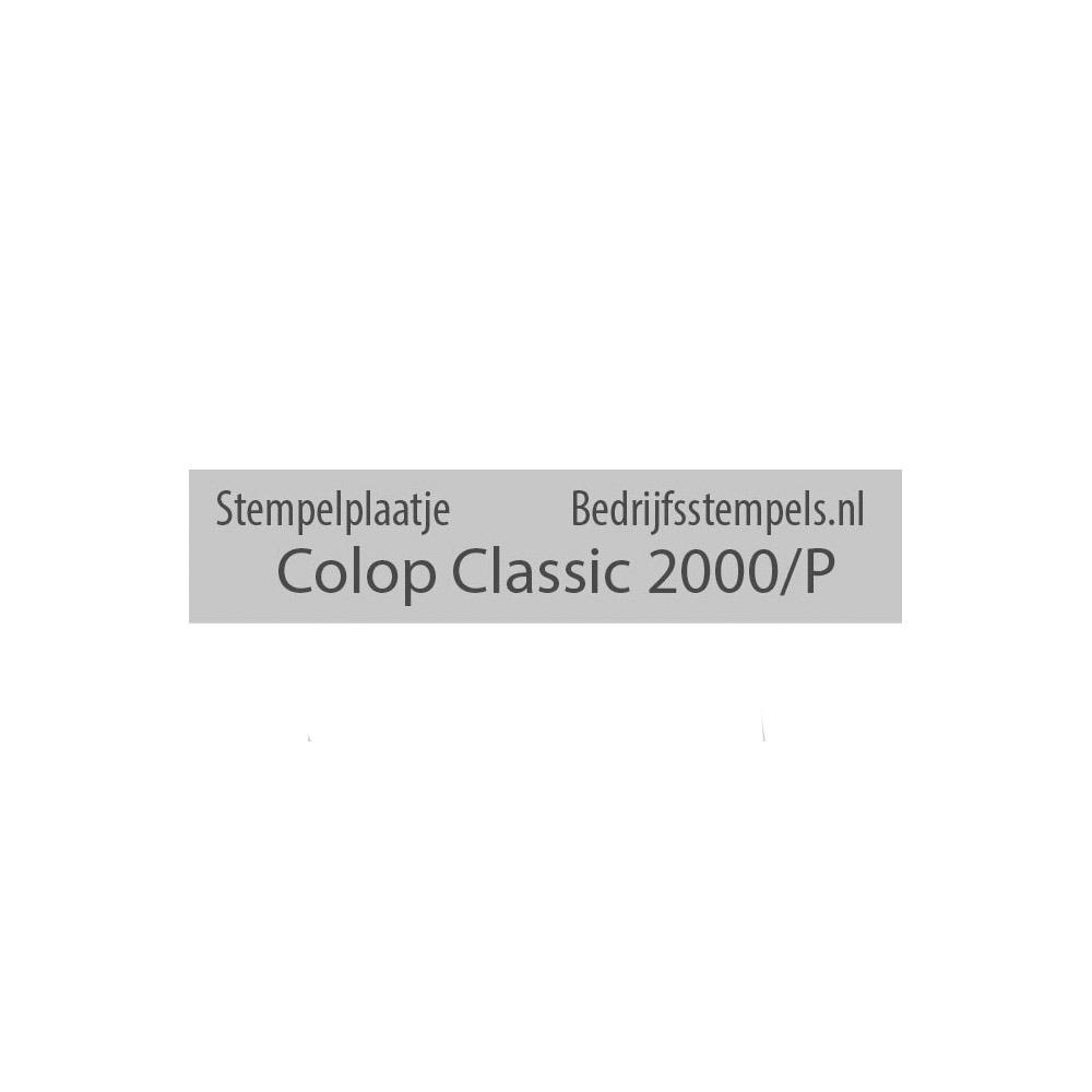 Tekstplaatje Colop 2000/P Datum