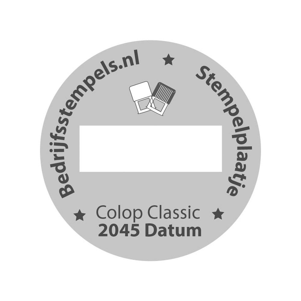Stempelplaatje Colop Classic 2045/6 Datum