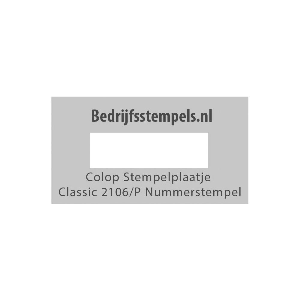 Stempelplaatje Colop Classic 2106/P