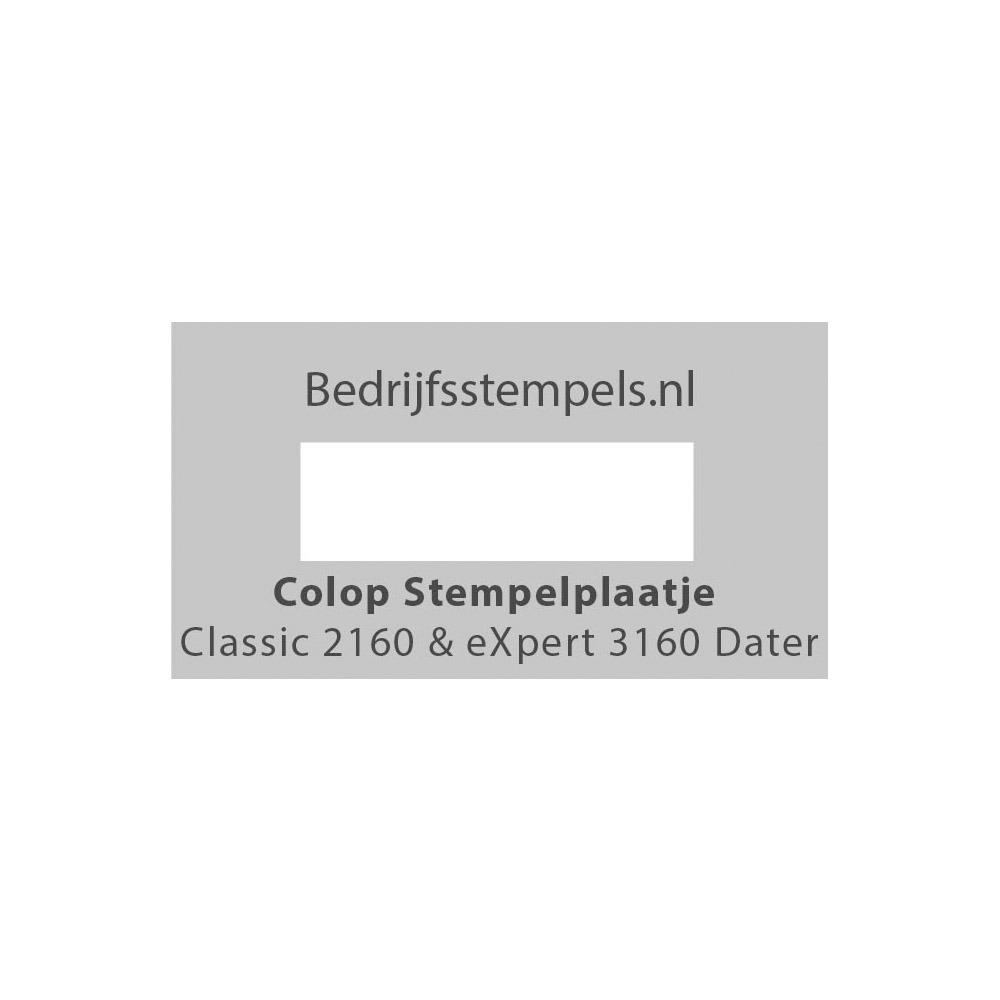 Stempelplaatje Colop 2160 & 3160