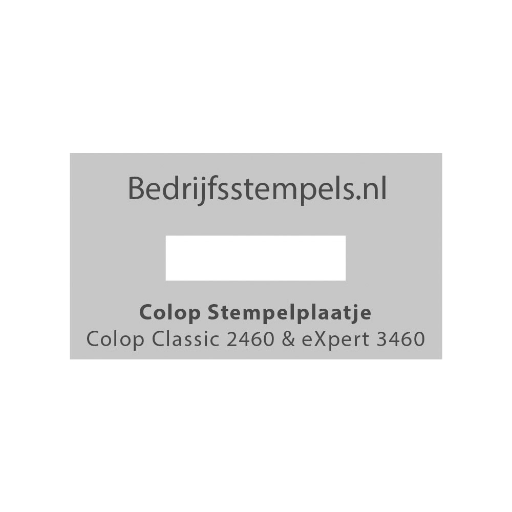 Stempelplaatje Colop 2460 & 3460