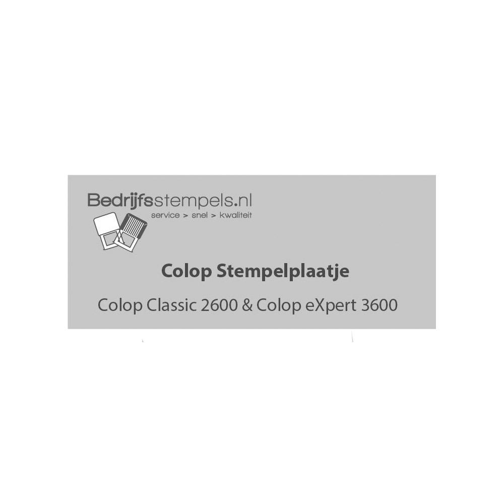 Colop 2600 & 3600 stempelplaatje