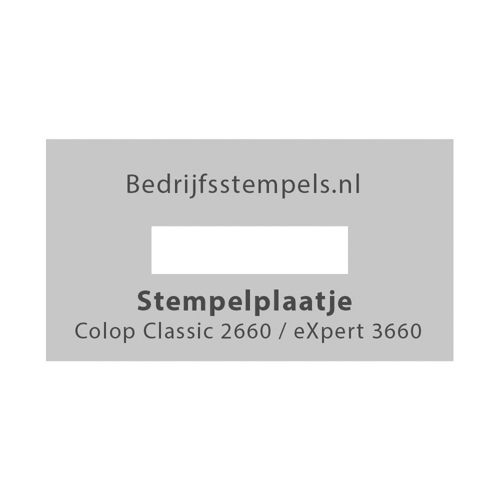 Stempelplaatje Colop 2660 & 3660