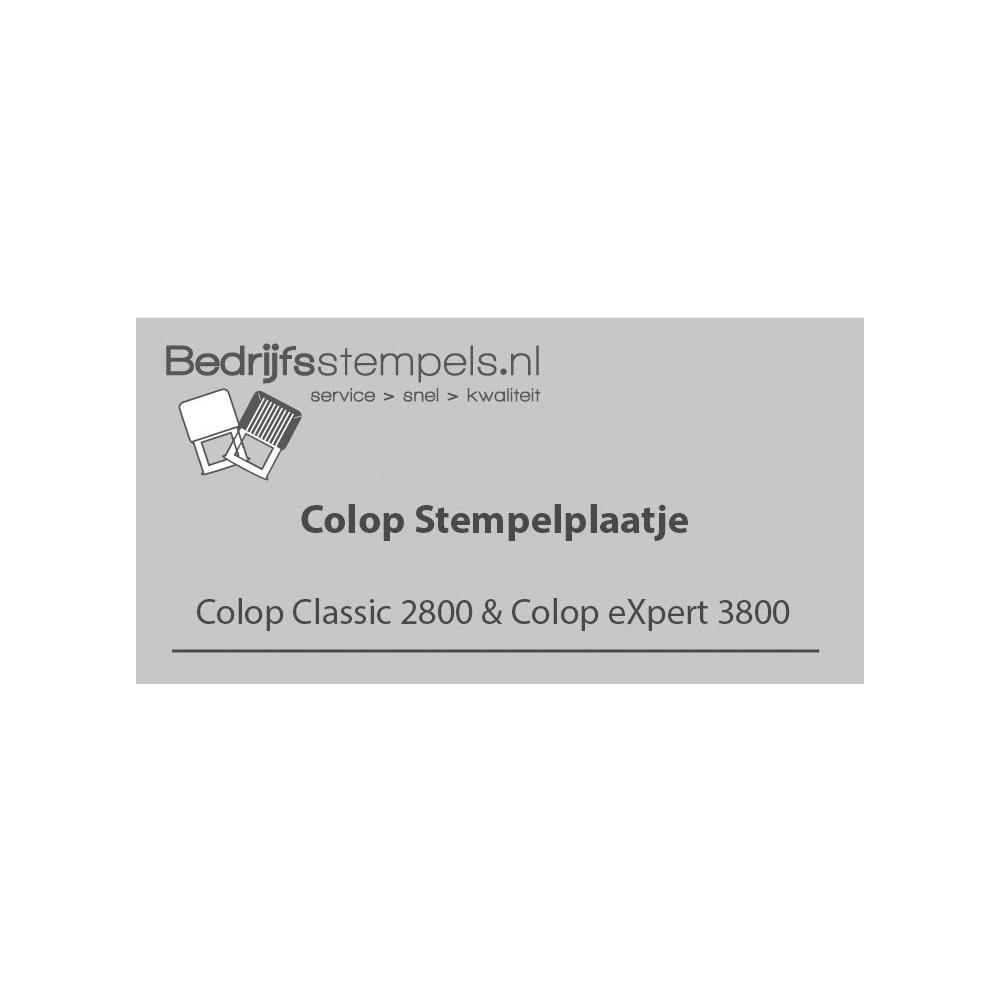 Colop 2800 & 3800 stempelplaatje