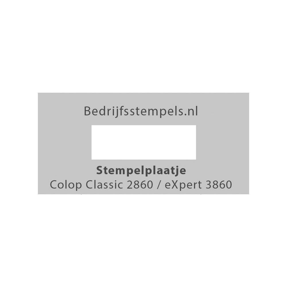 Stempelplaatje Colop 2860 & 3860