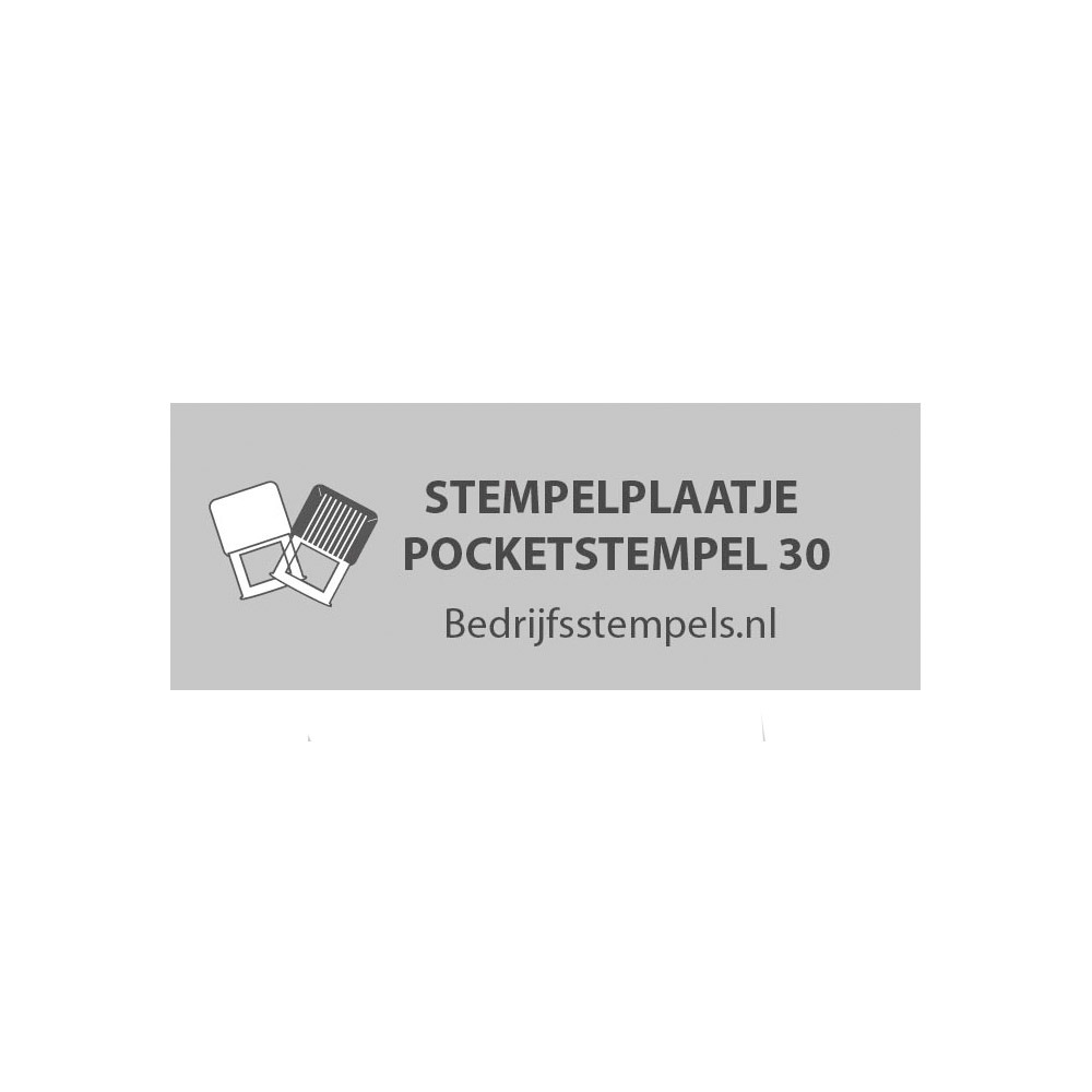 Colop Pocket Stempel 30 stempelplaatje
