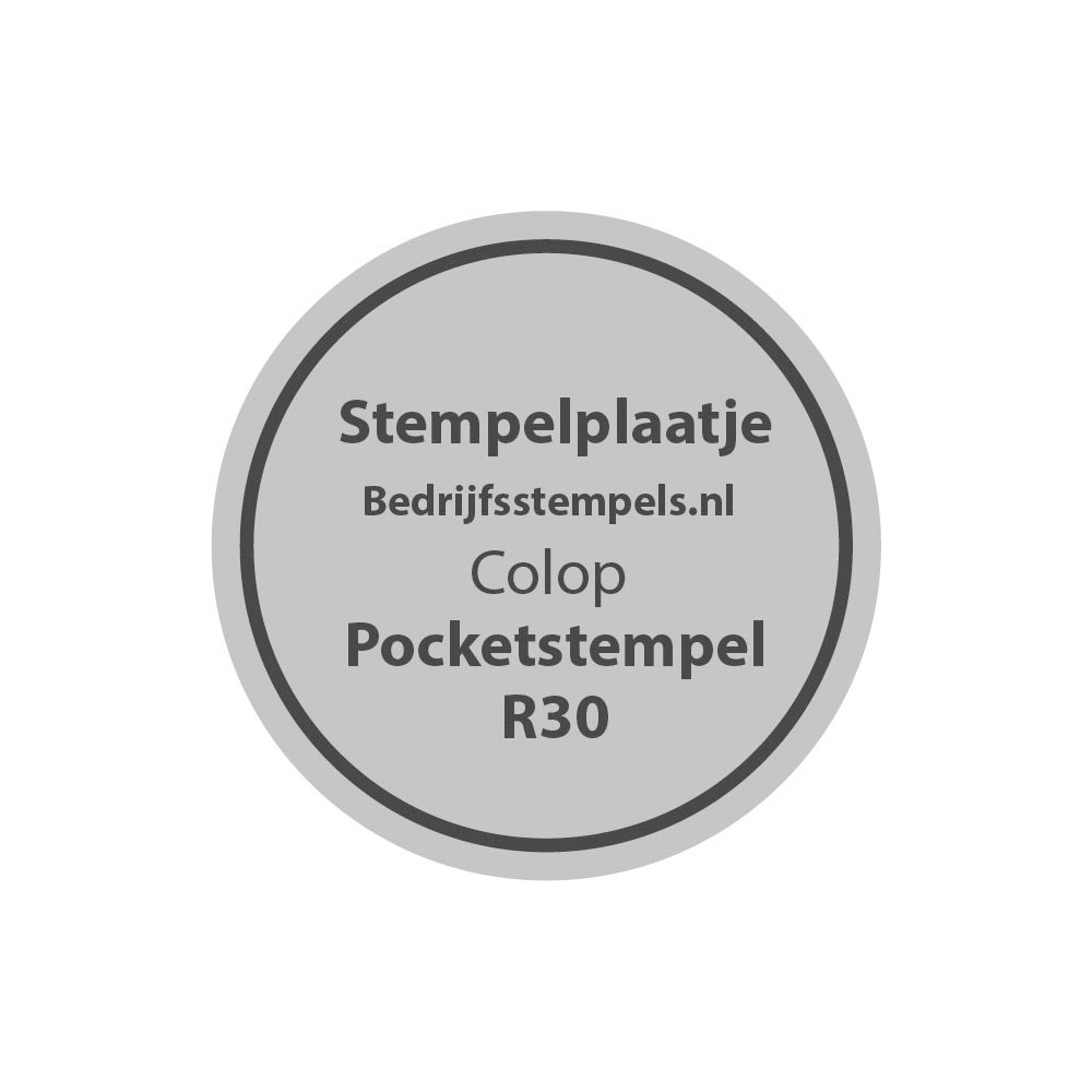 Tekstplaatje Colop Pocket Stamp R30