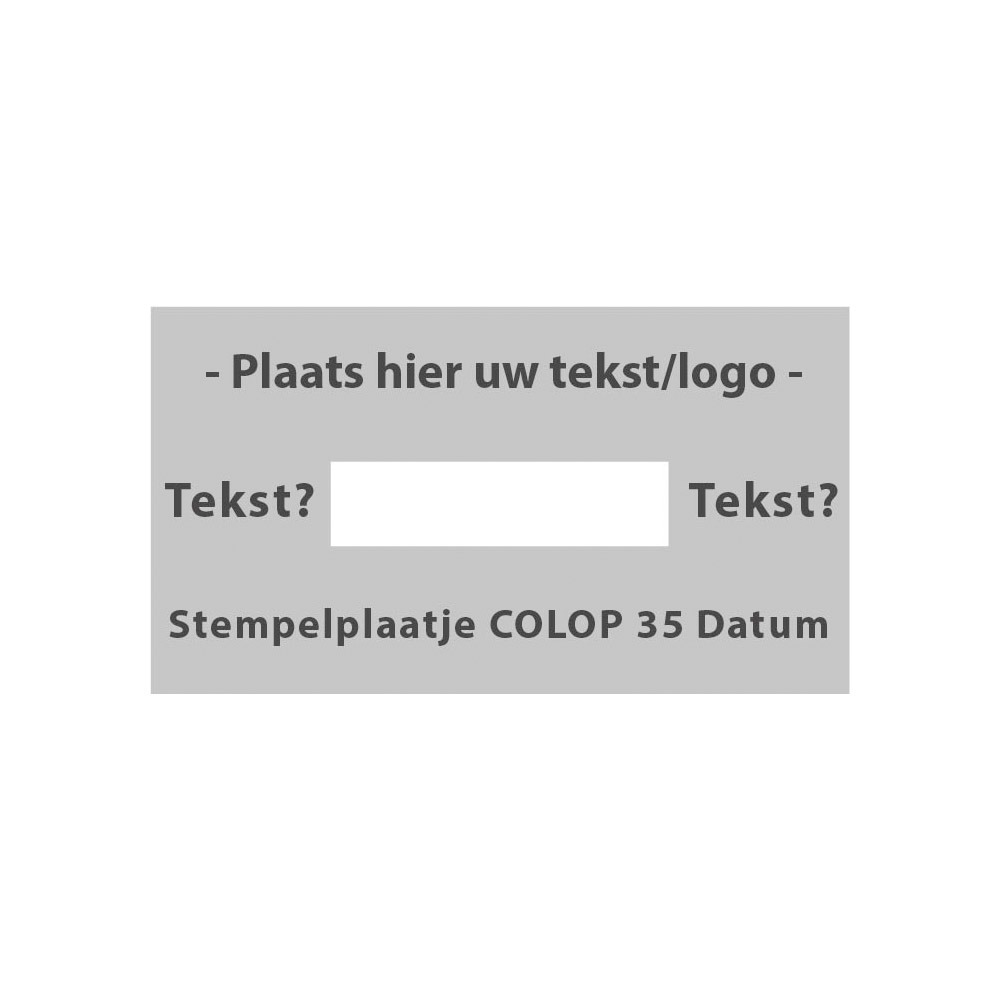 Tekstplaatje Colop Printer 35 Datum