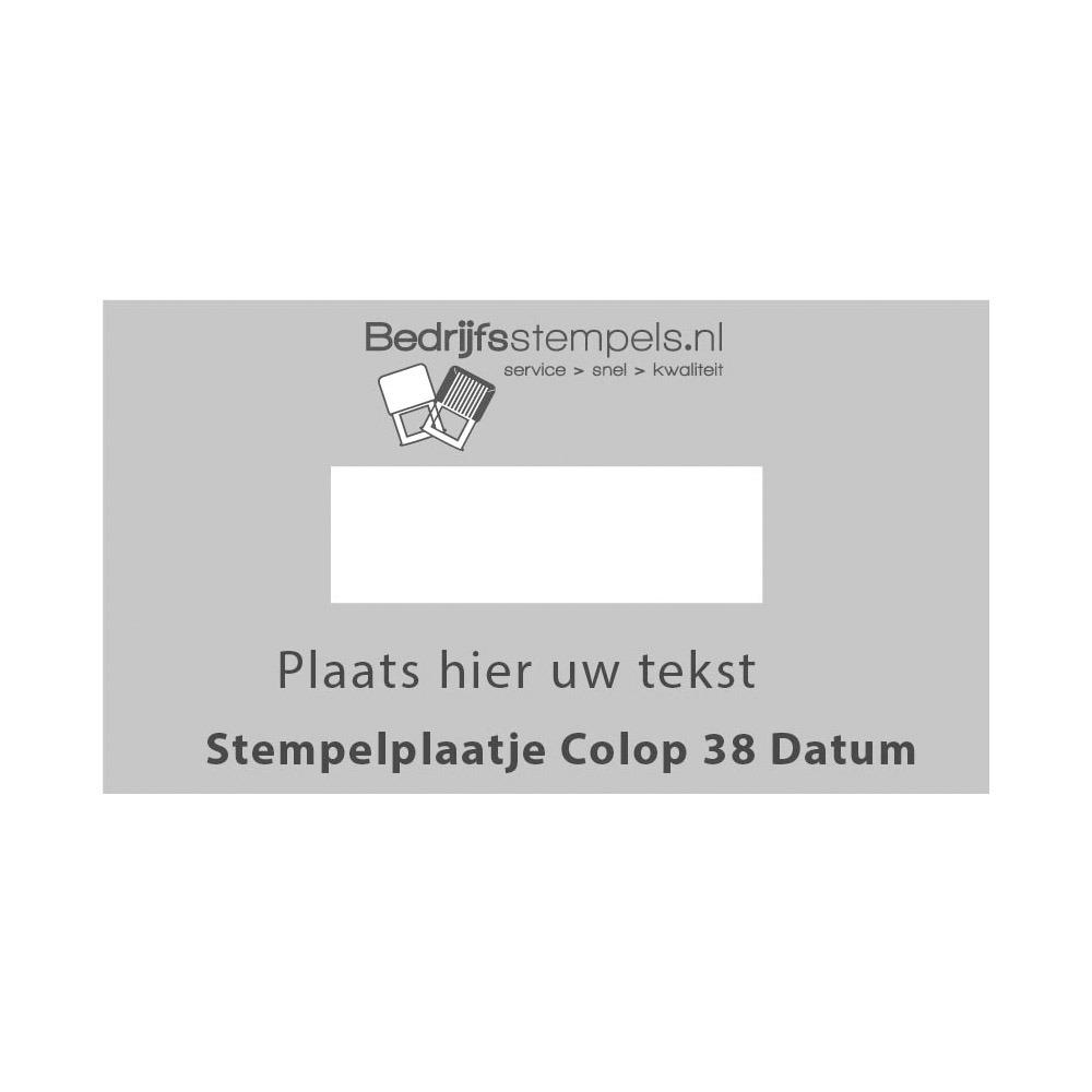 Tekstplaatje Colop Printer 38 Datum