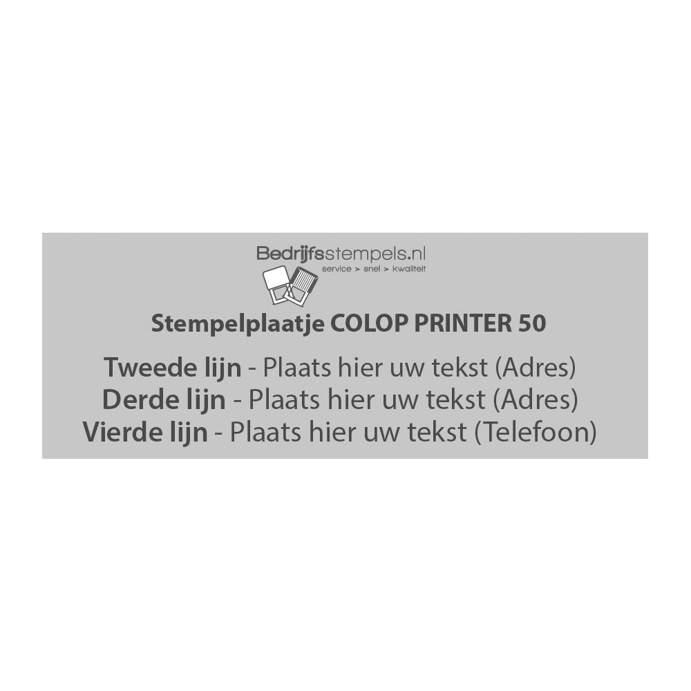 Colop Printer 50 stempelplaatje