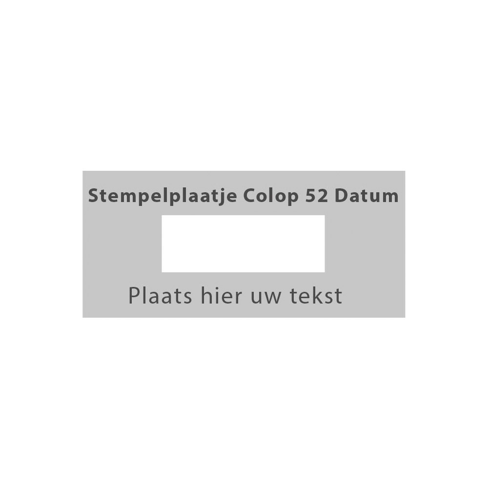 Colop Printer 52 Datum stempelplaatje