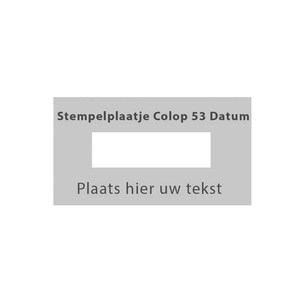 Colop Printer 53 Datum stempelplaatje