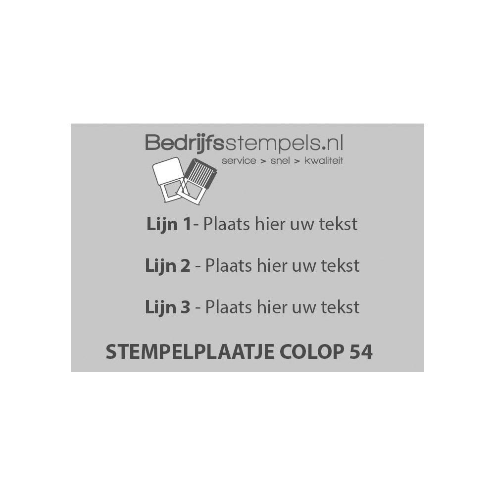 Tekstplaatje Colop Printer 54