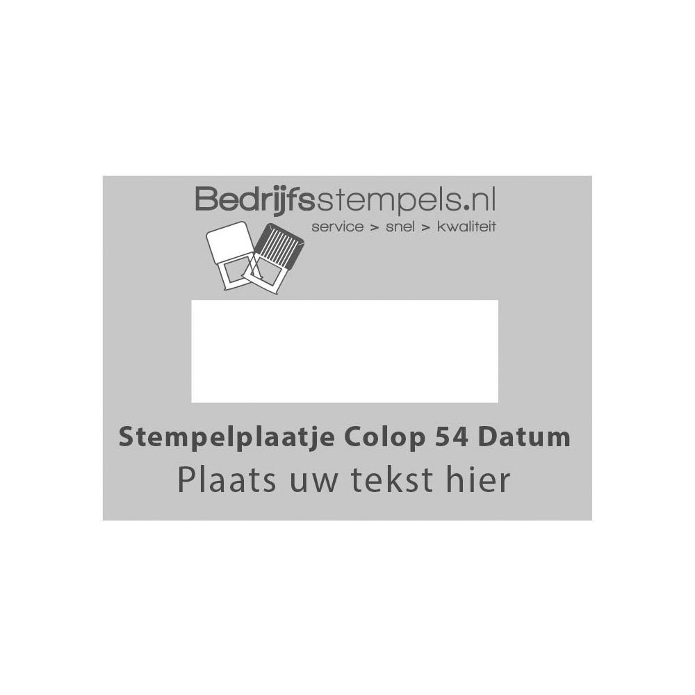 Colop Printer 54 Datum stempelplaatje