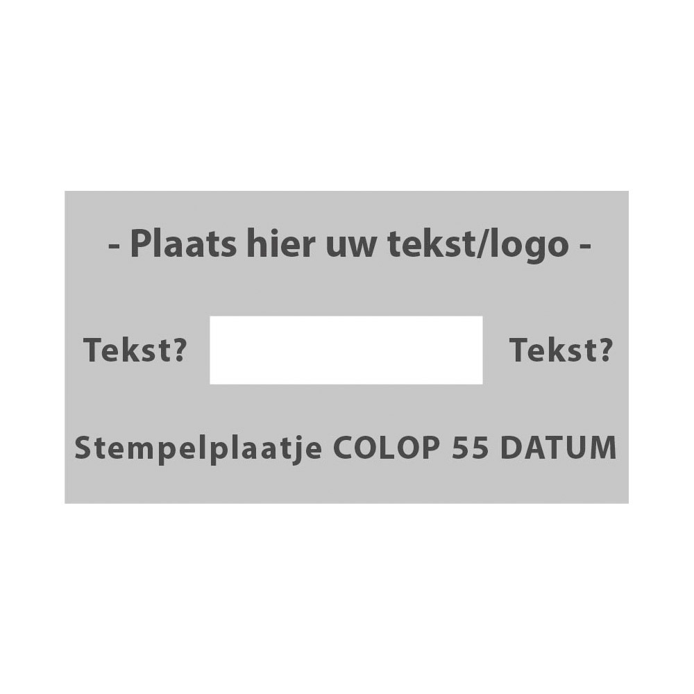 Stempelplaatje Colop Printer 55 Datum