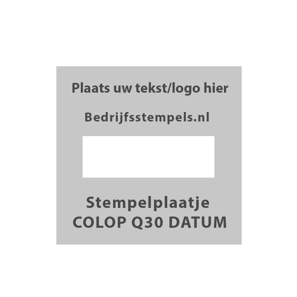 Colop Printer Q30 Datum stempelplaatje