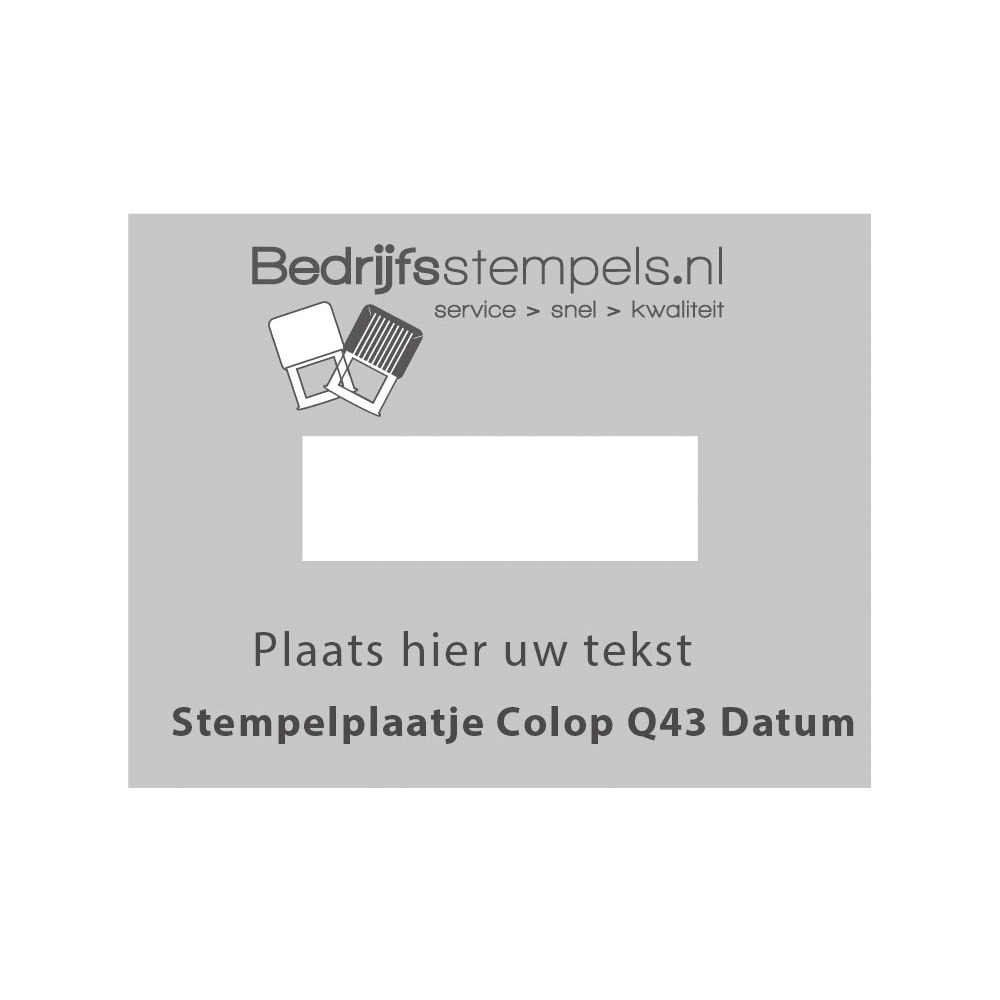 Tekstplaatje Colop Printer Q43 Datum