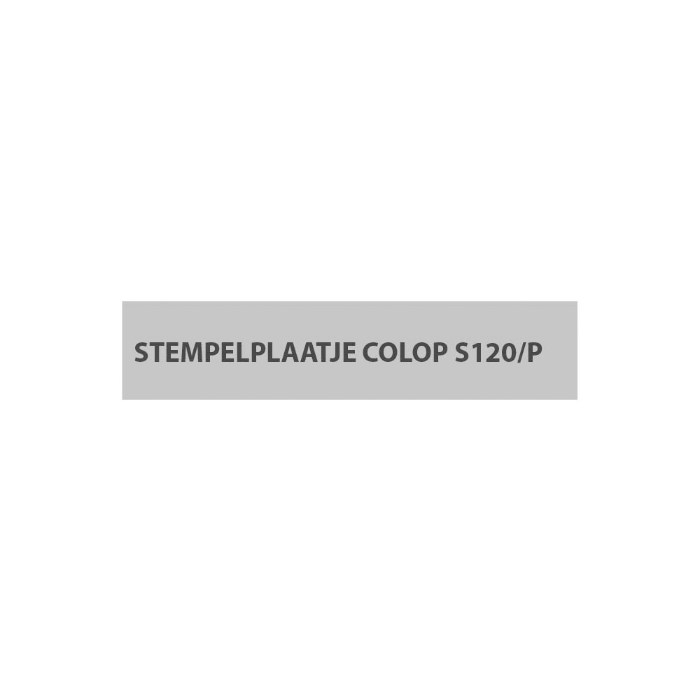 Stempelplaatje Colop S120/P D