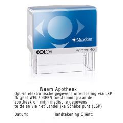 Colop Printer 40 Microban LSP stempel