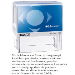 Colop Printer 60 deurwaarders stempel