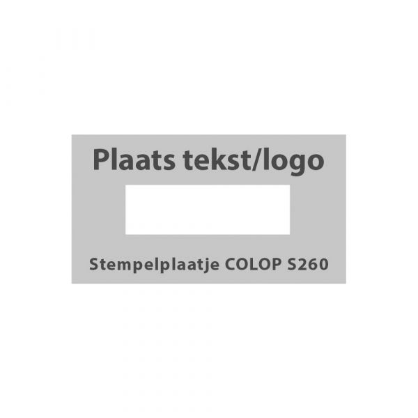 Stempelplaatje Colop Printer S 260 Datum