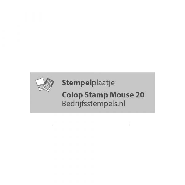 Colop Stamp Mouse 20 stempelplaatje