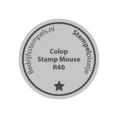 Colop Stamp Mouse R40 tekstplaatje
