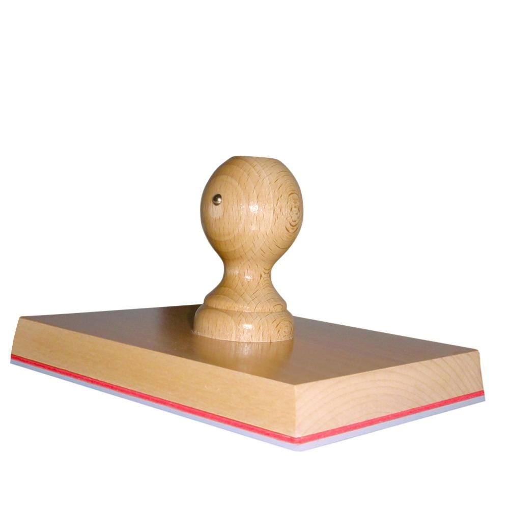 Grote Stempel van hout 180 x 140 mm
