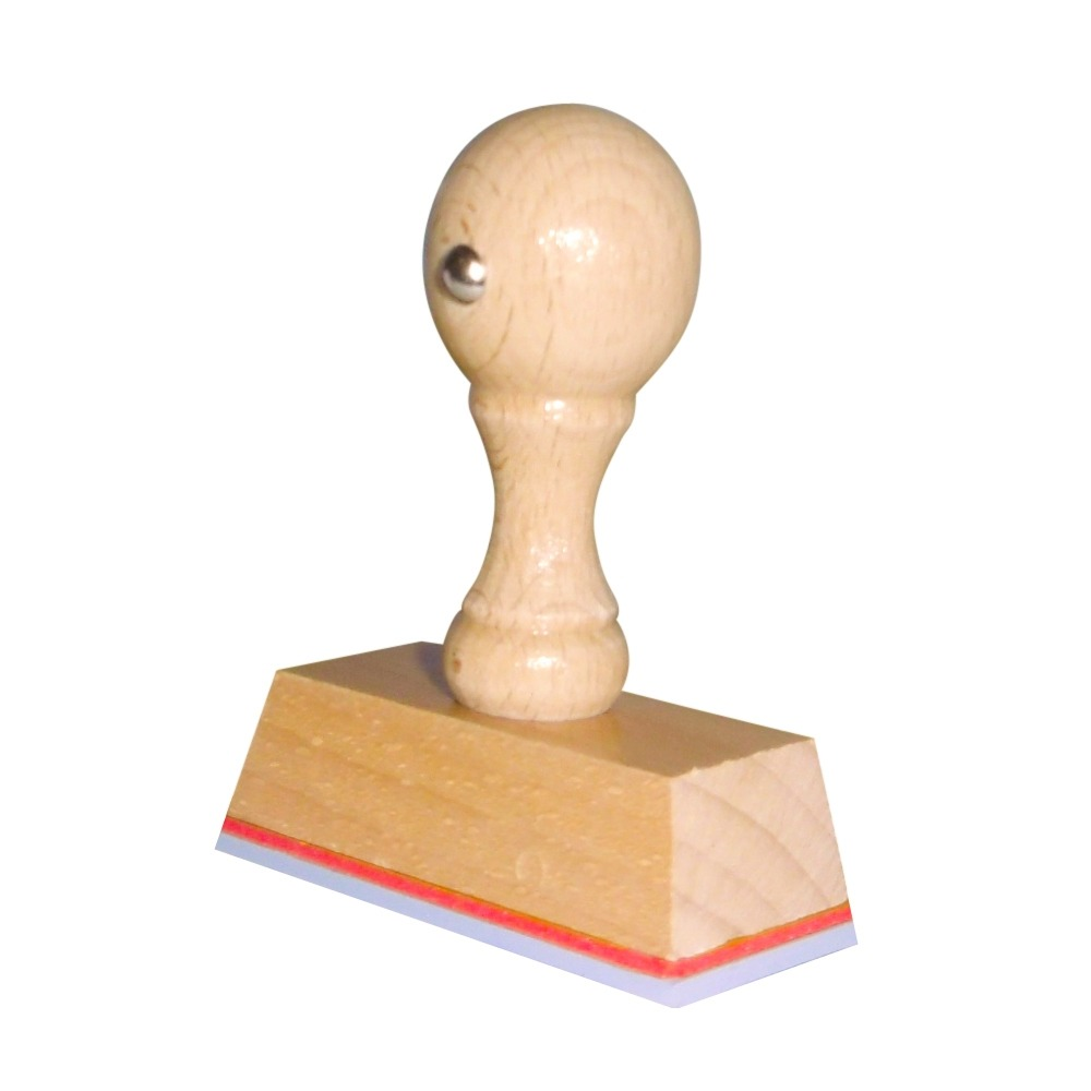 Houten Handstempel 45 x 25 mm