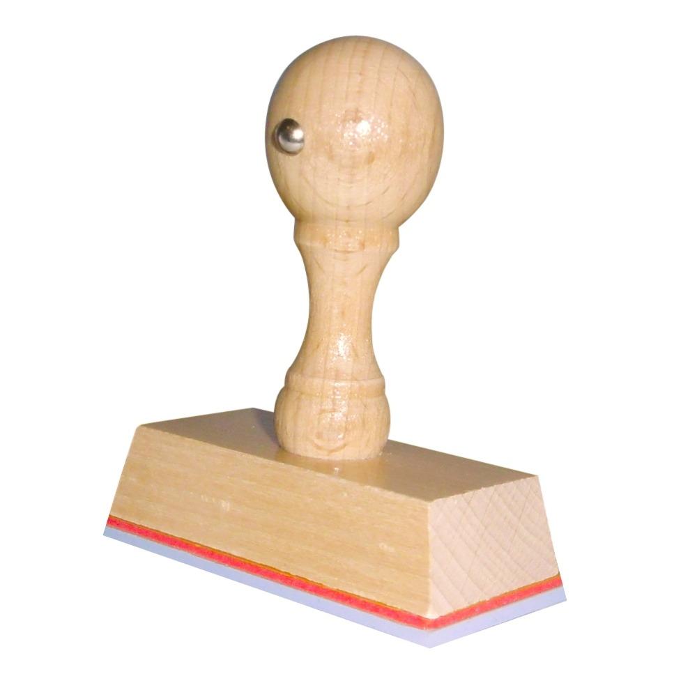 Houten Handstempel 65 x 30 mm