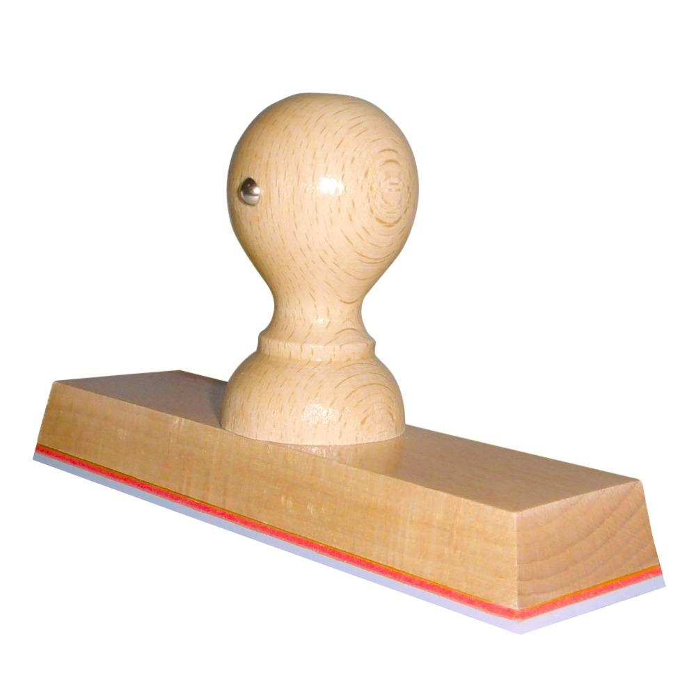Grote houten handstempel 140 x 40 mm