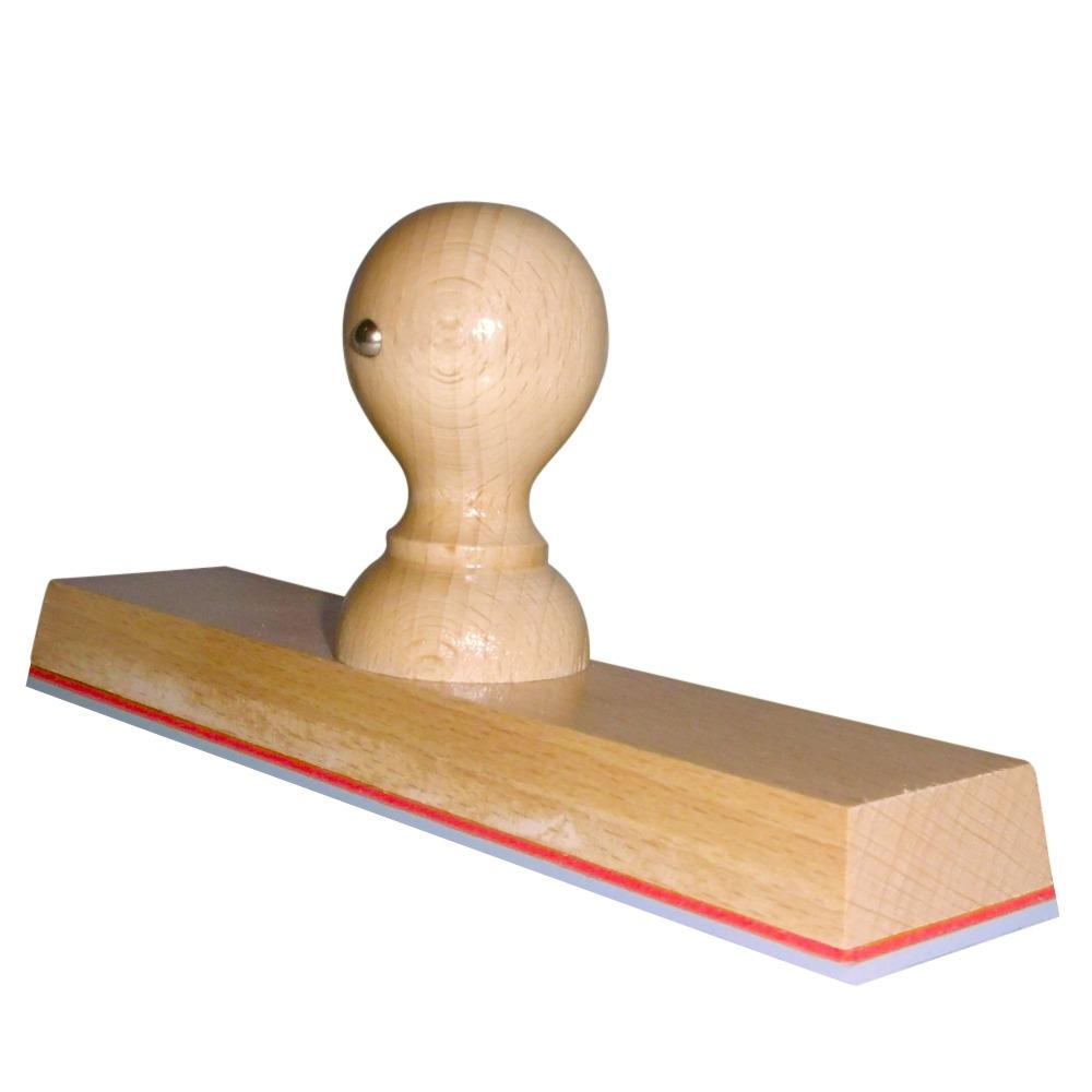 Grote houten handstempel 200 x 40 mm