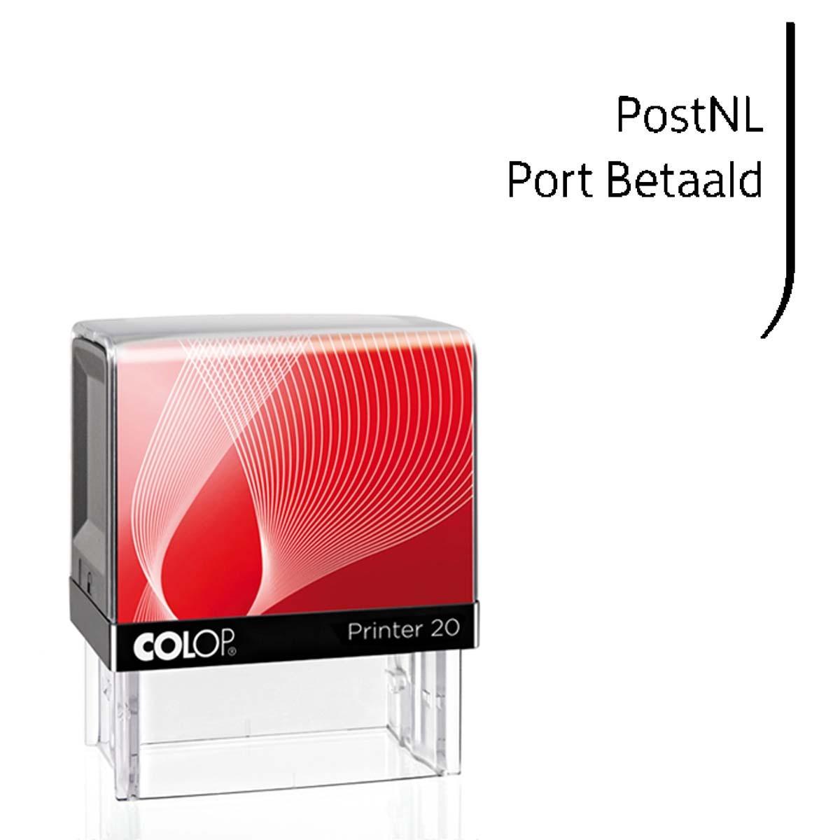 PostNL Port betaald zelfinktende stempel