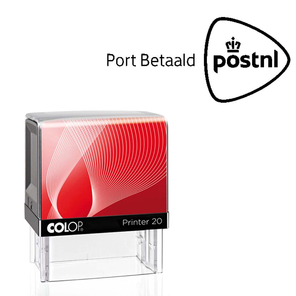 PostNl Port Betaald stempel nationaal. Zelf-inktende Colop stempel