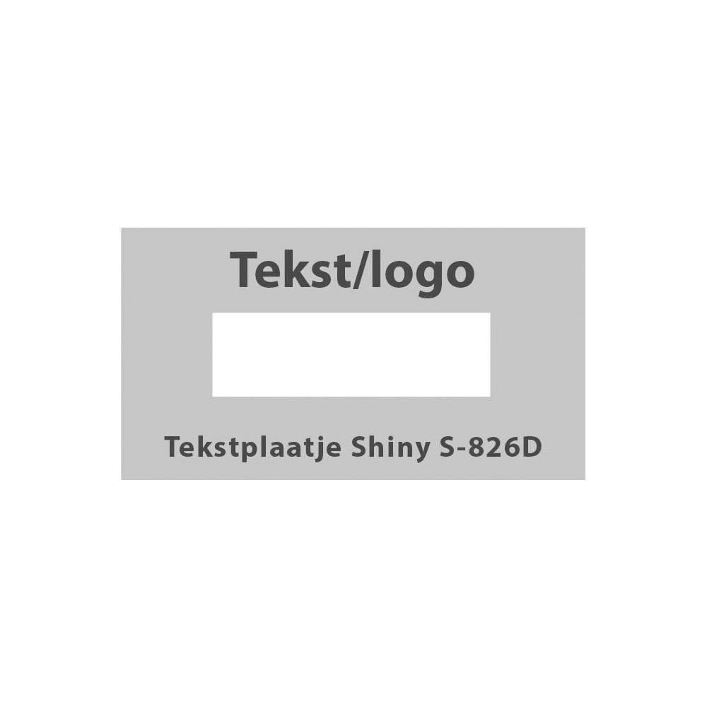 Tekstplaatje Shiny Printer 826 D