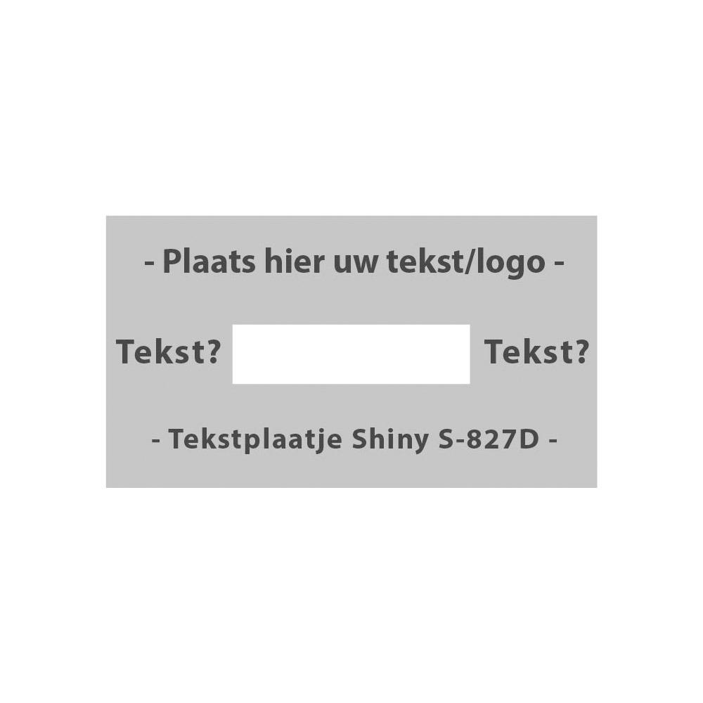 Tekstplaatje Shiny Printer 827 D