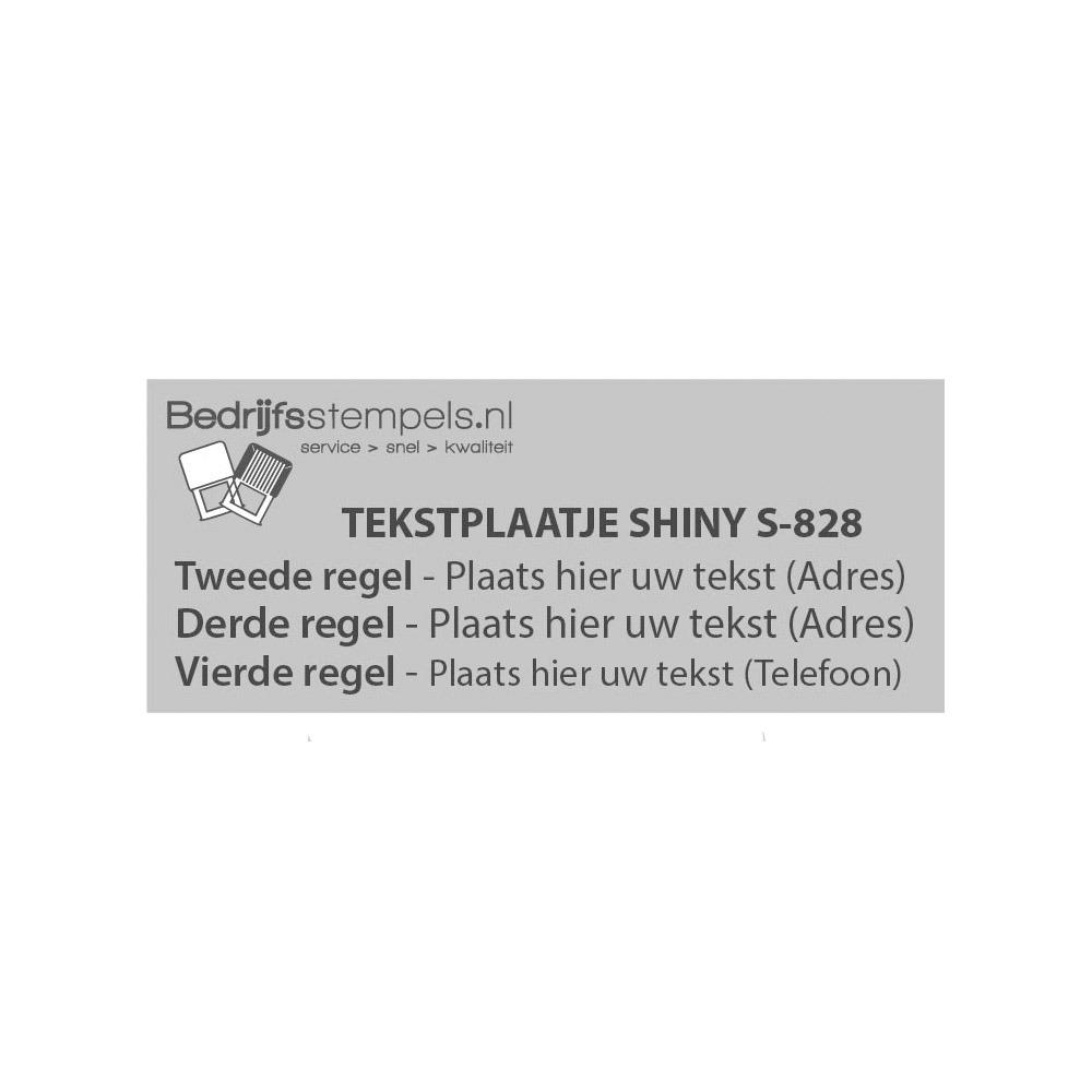 Shiny Printer S-828 tekstplaatje