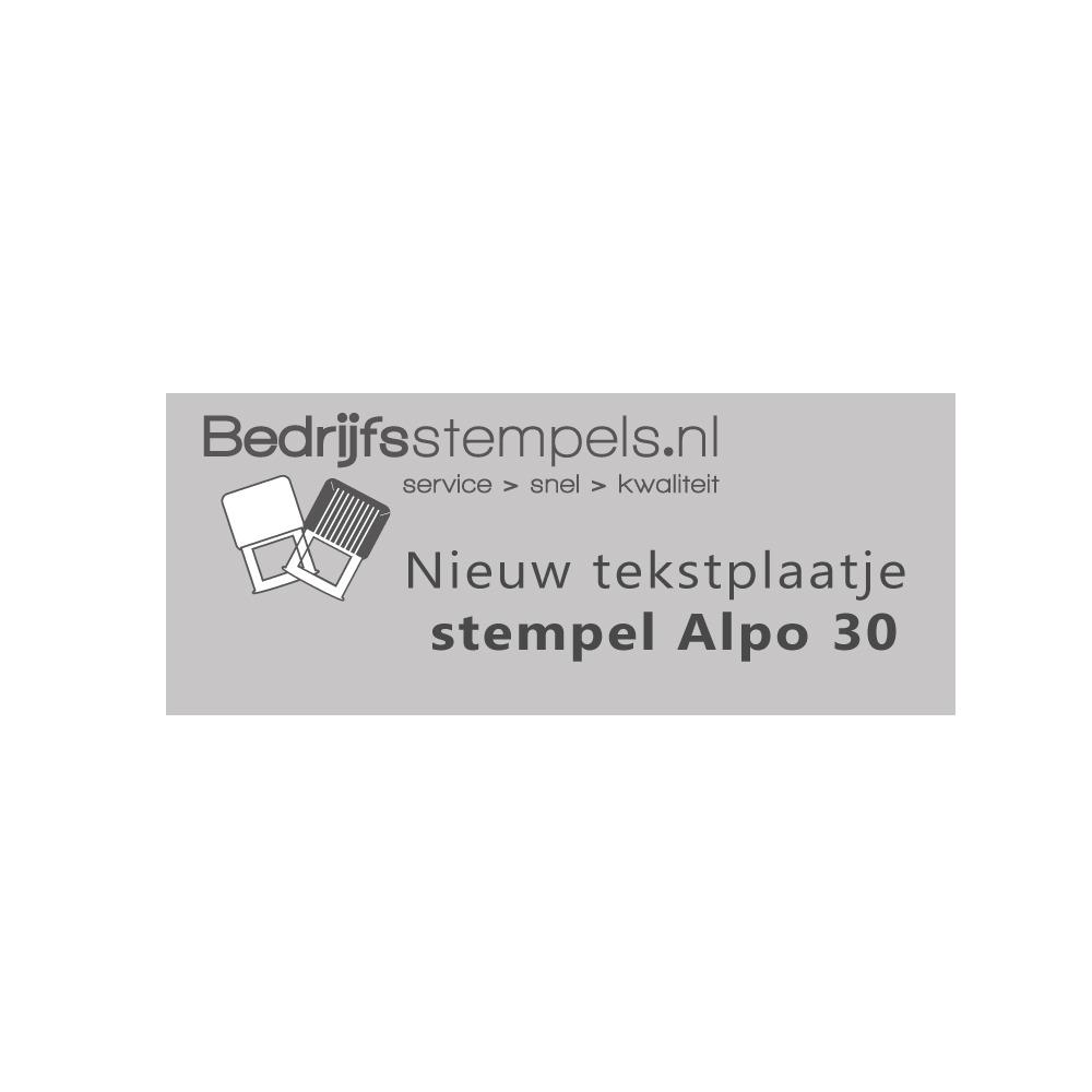 Alpo 30 - Posta 30 stempelplaatje