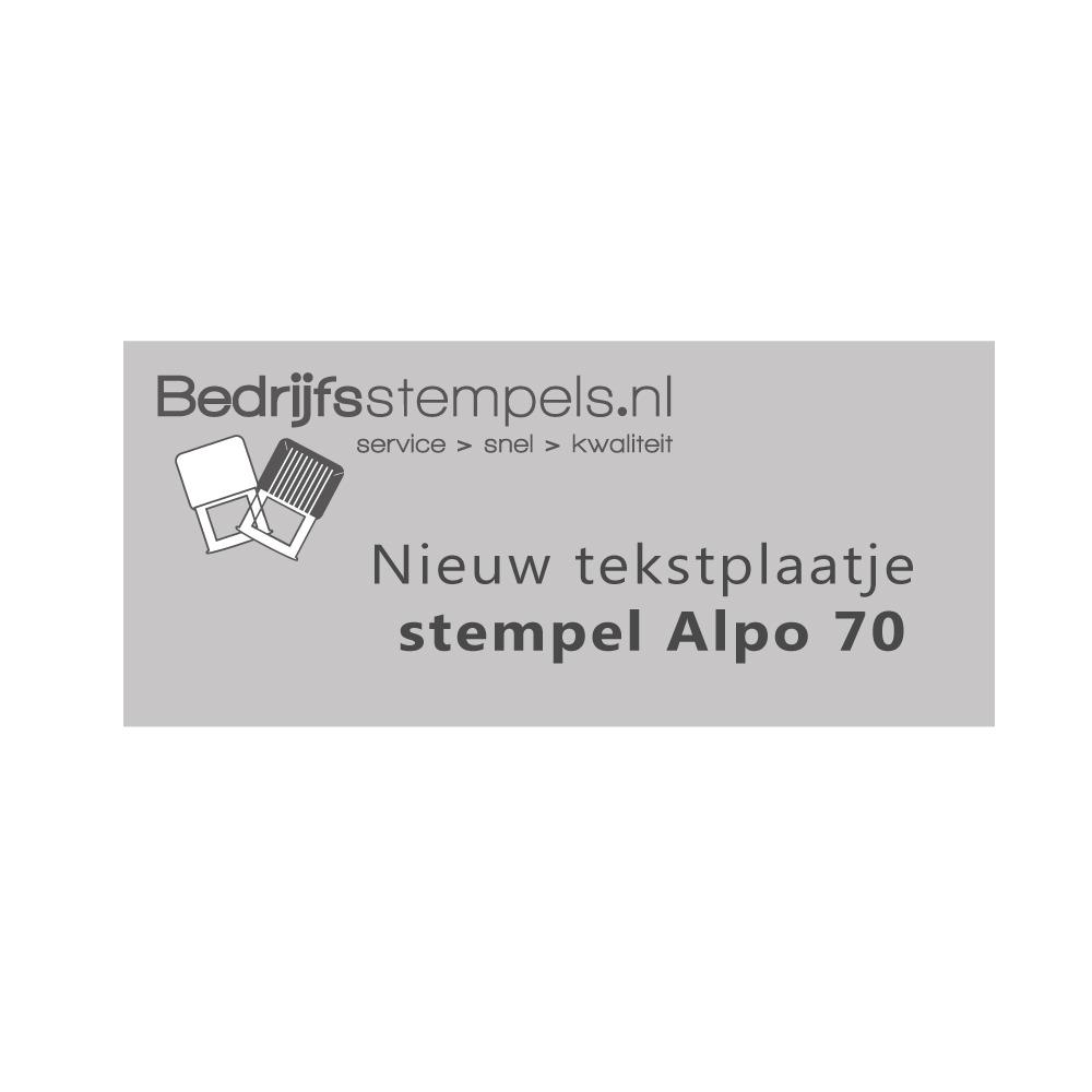 Alpo 70 - Posta 70 stempelplaatje