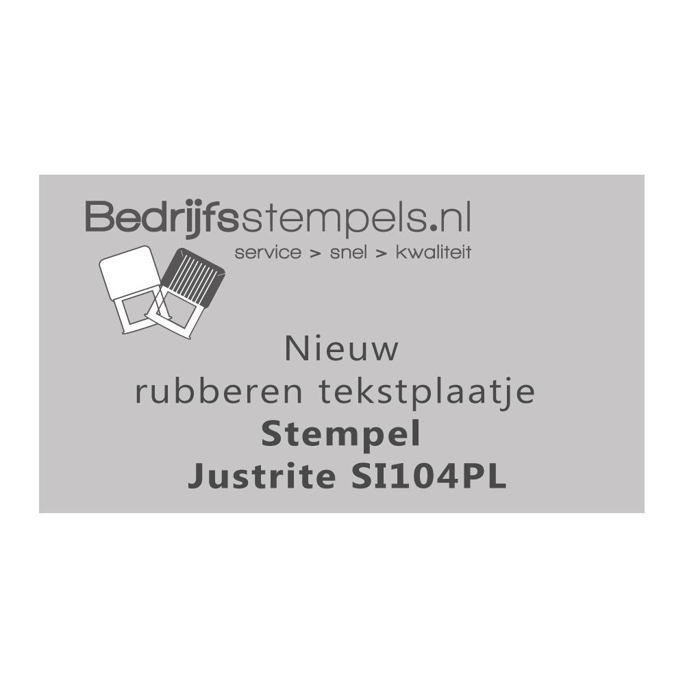 Stempelplaatje Justrite SI104PL