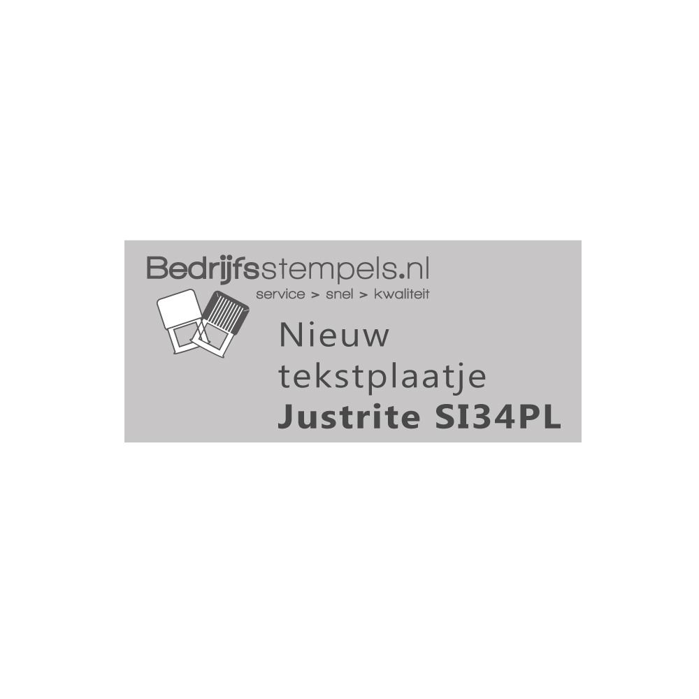 Stempelplaatje Justrite SI34PL