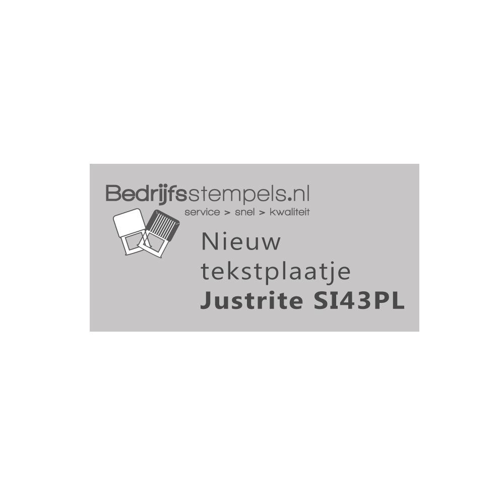 Stempelplaatje Justrite SI43PL