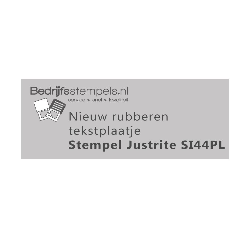Stempelplaatje Justrite SI44PL